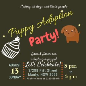 Dog party invitation #1