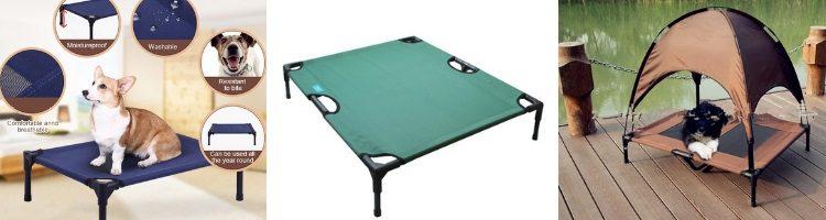 dog bed, outdoor dog bed, raised dog bed, camping dog bed, dog cot